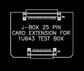 25 Pin J-Box Extender Card